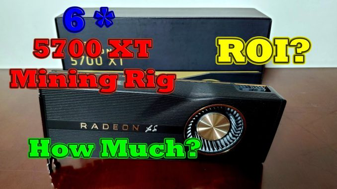 RX 5700 XT Mining Rig ROI?!? When? | Hashrate & Price as of 10/11/2020